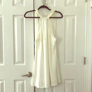 Lulus high neck White dress